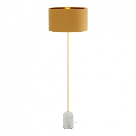 Ara Floor Lamp White Marble Base Mustard Tralula Uk A Range Of Furnishings Home Decor Gifts Accessories